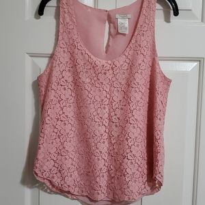 Aritzia Talula Betty Tank Top Lace Blouse Small